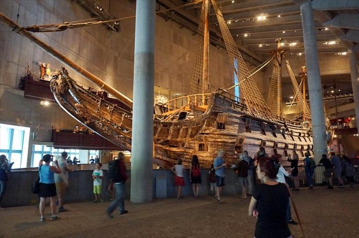 瓦萨沉船博物馆展示着保存完好,且世上唯一的17世纪船舶。
