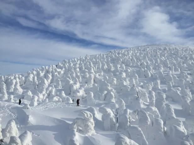 东北藏王山上的雪怪