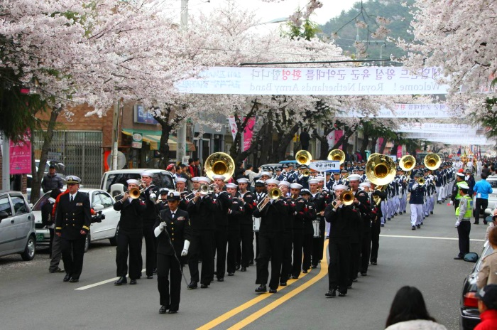 每年的镇海军港节,便是镇海盛大的樱花祭典!