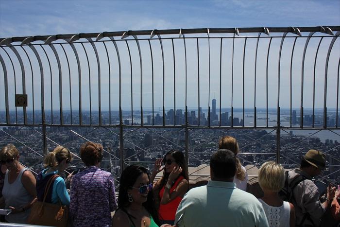 纽约市的景致尽收眼帘。