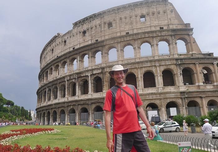 罗马竞技场前的马克。