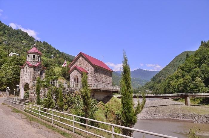 美丽的格鲁吉亚景色。