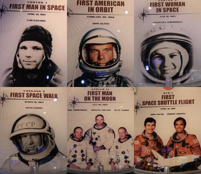 馆内详细记录伟大的宇航员。