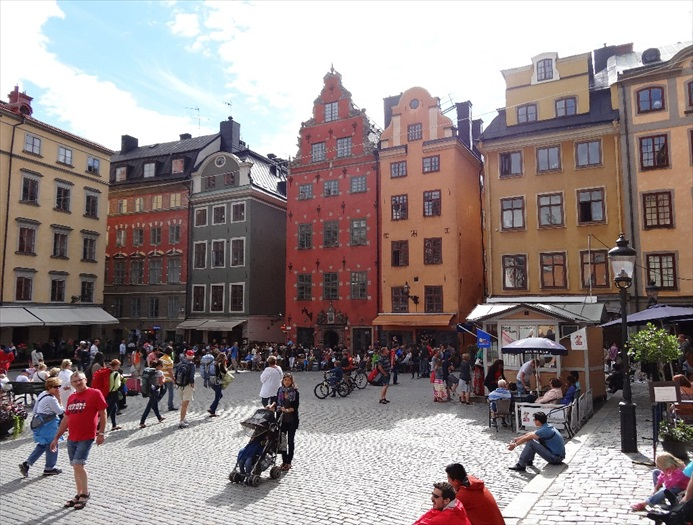 斯德哥尔摩老城区非常受游人欢迎。