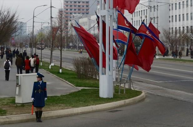 交通女警察;朝鲜街头的最瞩目的明星。