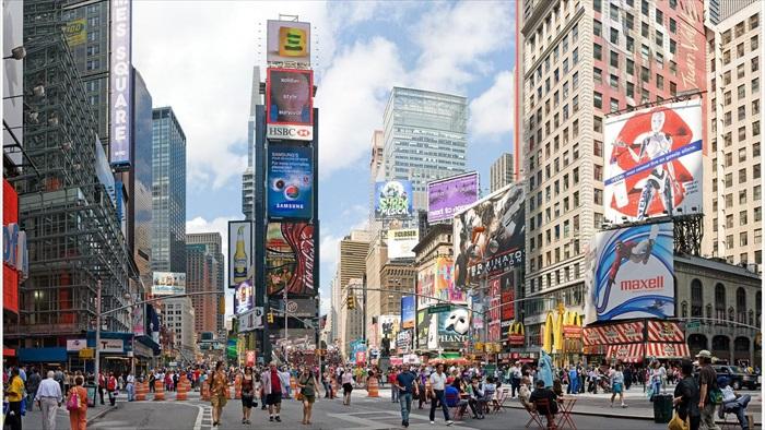 大家都喜爱的时代广场!