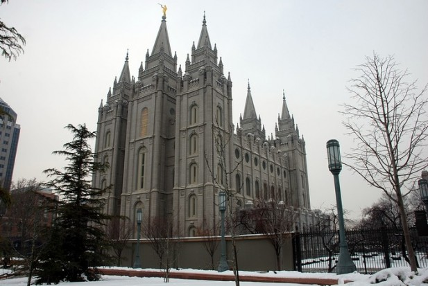 Salt Lake Temple – 盐湖城地标,摩门圣殿。