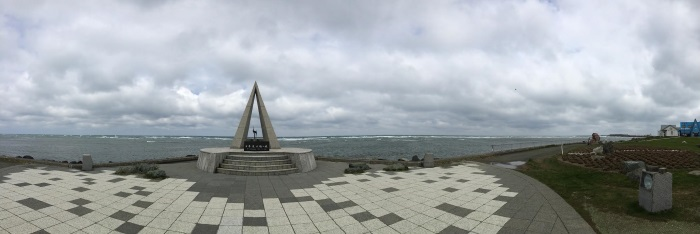 宗谷岬北纬45度纪念牌;日本的北角。
