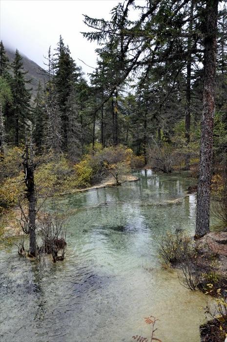 黄龙一样有着美丽的山水景。