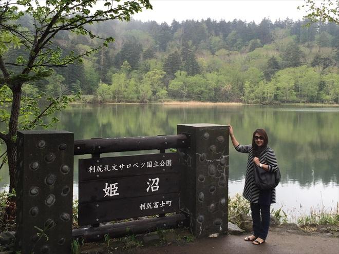 利尻岛姬沼公园;湖泊水面如镜,清澈透底,环湖一圈30分钟,享受大自然景观之悠静。