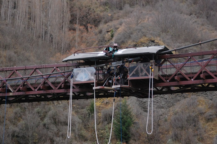 Queenstown邻近的Kawarau Bridge Bungy。