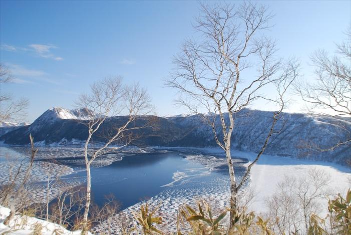 冬季的摩周湖,完美诠释萧瑟美。