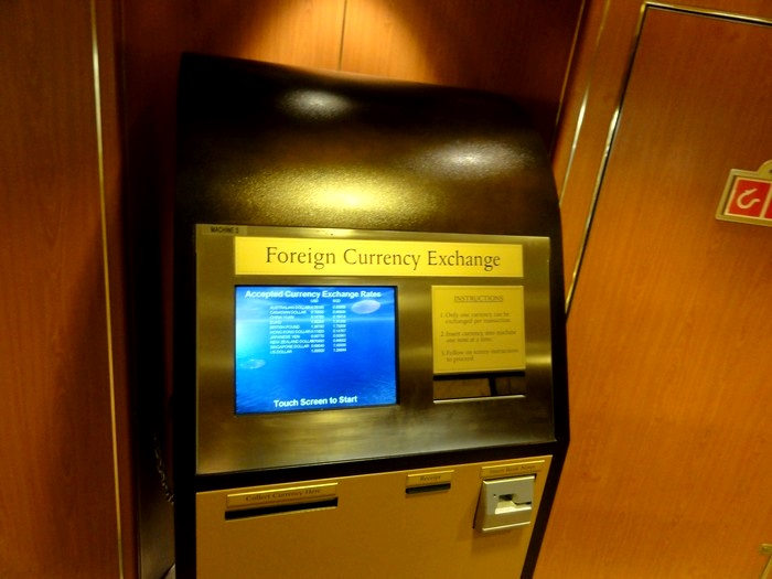 游轮还设有外国钱币兑换机