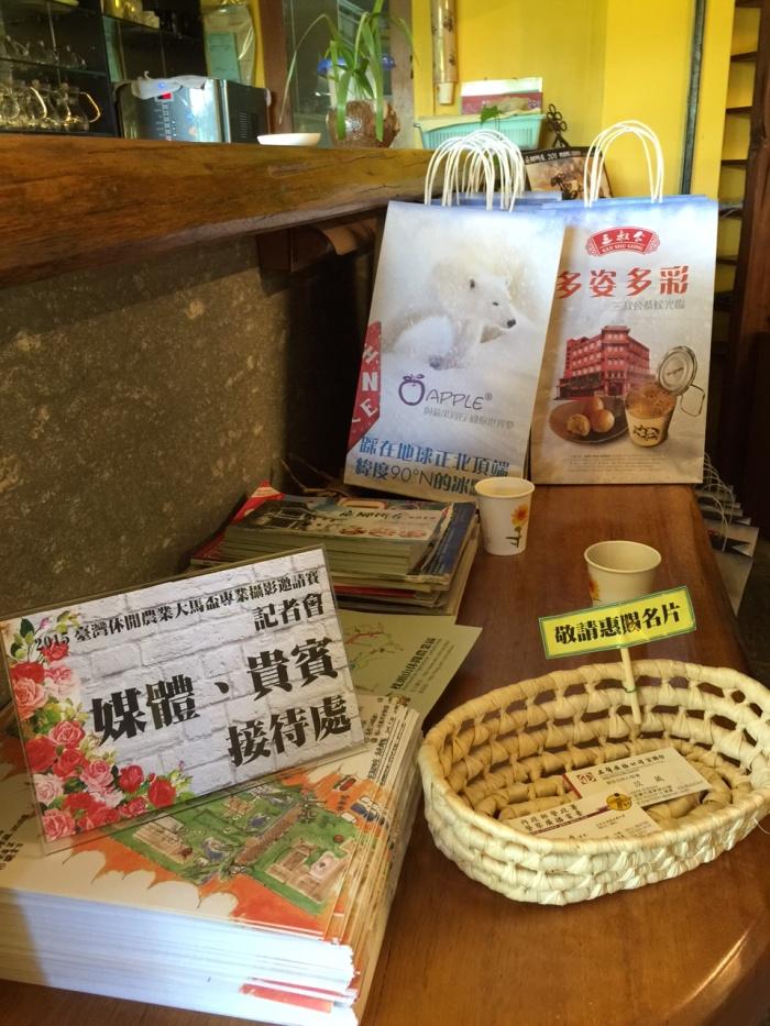来自马来西亚的伴手礼,特别为台湾媒体们准备。