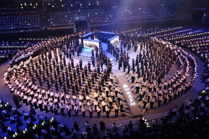 """慈济《法譬如水》经藏颂法大汇演;总共5009志工的""""舍与得""""精髓;我悟了!"""