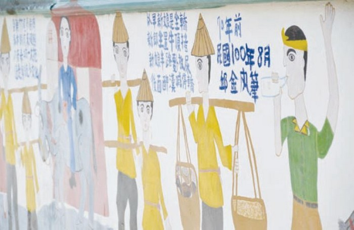 用最真挚的心呈现的壁画,让访客回味过往农村生活面貌。