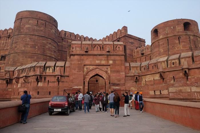 沙贾汗临终之地,阿格拉红堡。