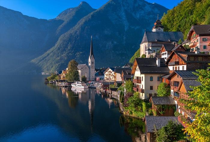 哈尔斯塔特村,最常出現在奥地利旅游册子的美丽景致。