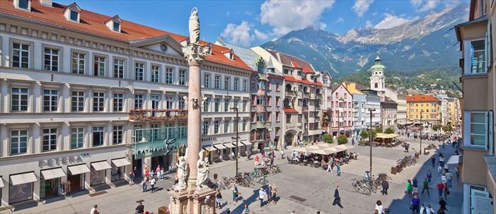 美丽的茵斯布鲁克,是奥地利的第5大城市。