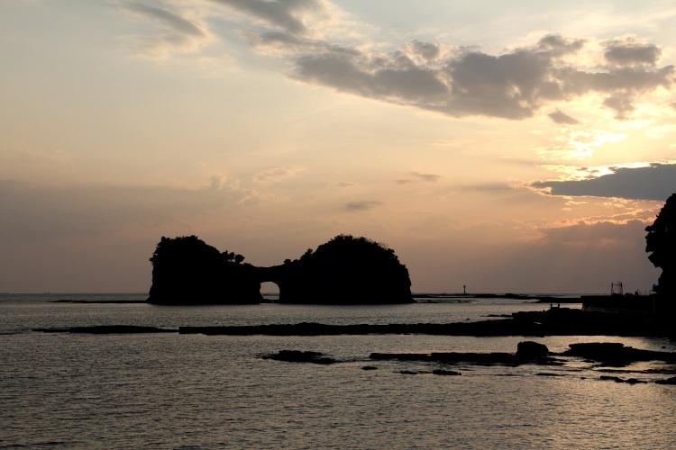 傍晚時分的圓月島。