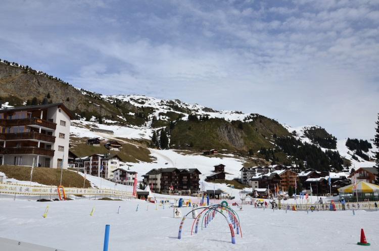 利德阿尔卑山镇是个滑雪胜地, 有许多滑雪道及度假屋。