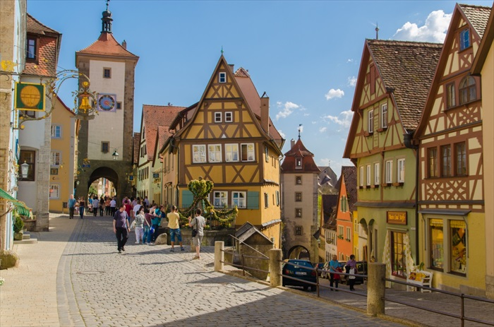 德国罗腾堡美丽醉人,不同的季节展现不同风貌。