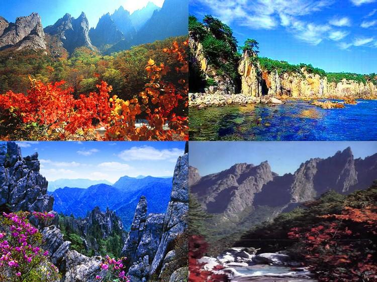 曾听闻,由于金刚山每年都得迎接四季的来临,随着季节不停变换景色也有着不同的名称哦!
