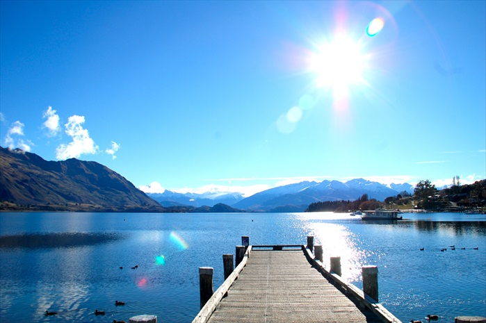 湖光山色,Wanaka处处是美景。