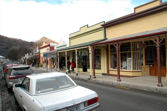 Arrowtown主要活动街道。