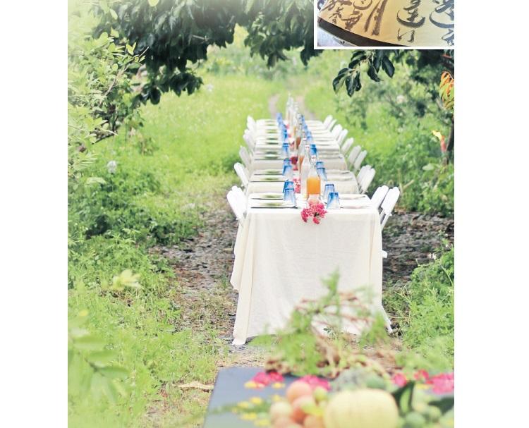 在田野间享受浪漫晚餐,体验花果野食趣,让人与大自然更加贴近。