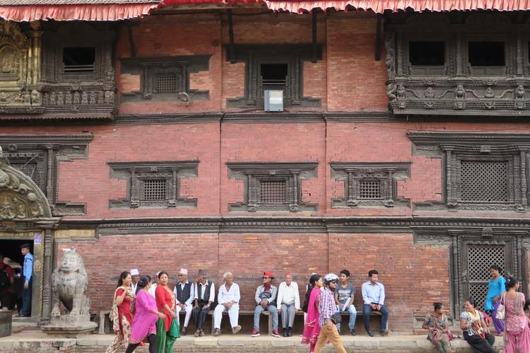 8世纪的Newar式的建筑;尼泊尔人引以为荣。