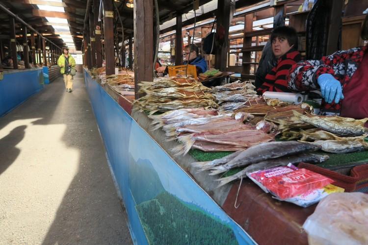 鱼市场;专卖贝尔加湖特产鱼类。