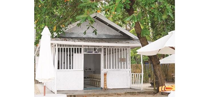 这就是潘丹岛上的小教堂。
