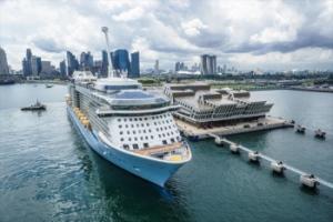 Quantum of the Seas at Marina Bay Cruise Centre Singapore