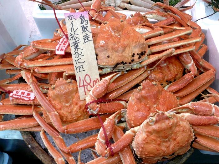 """松叶蟹是日本公认最好吃的螃蟹,在鸟取亦有""""螃蟹之王""""的称号。"""