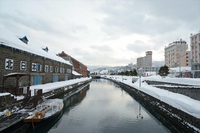 恬静的小樽运河,很冷!