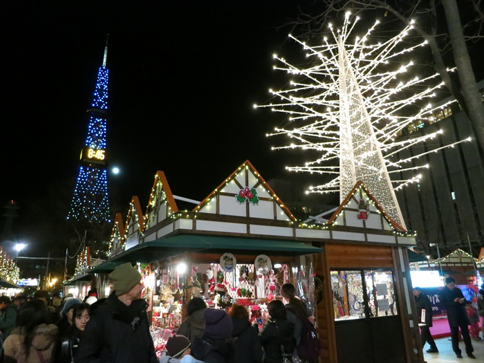 大通公园在每年的冬季都会举办各种迎接活动。