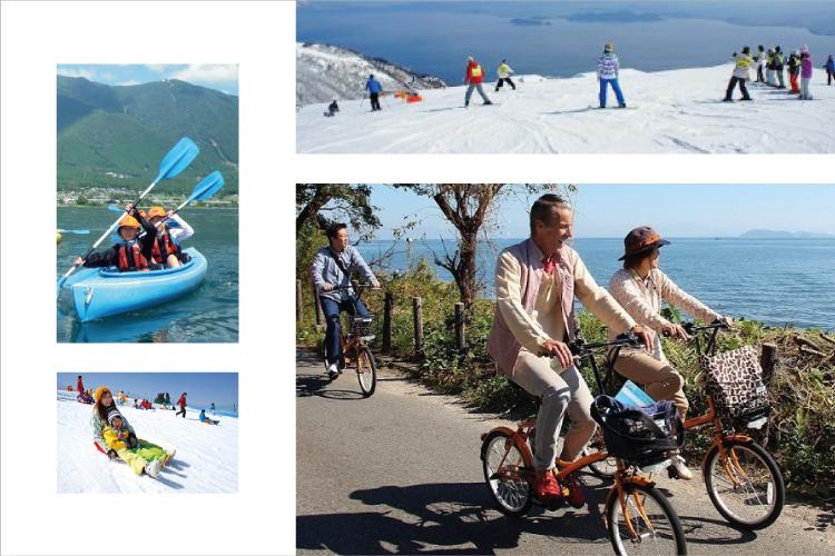 无论四季,在琵琶湖都能进行当季活动。