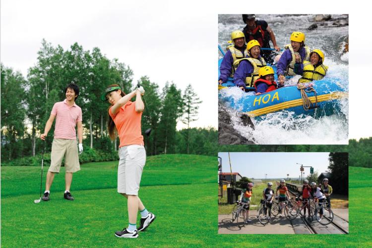 泛舟、独木舟、徒步登山,骑自行车等是富良野春夏最合适的户外活动。