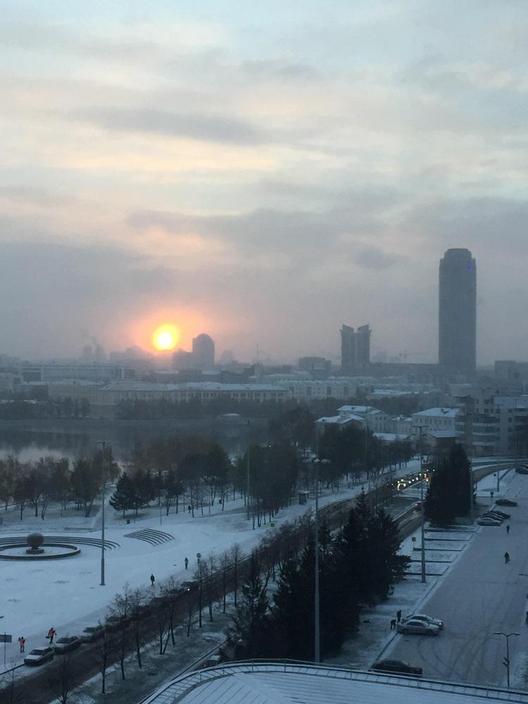 叶卡捷琳堡;初雪的感动。