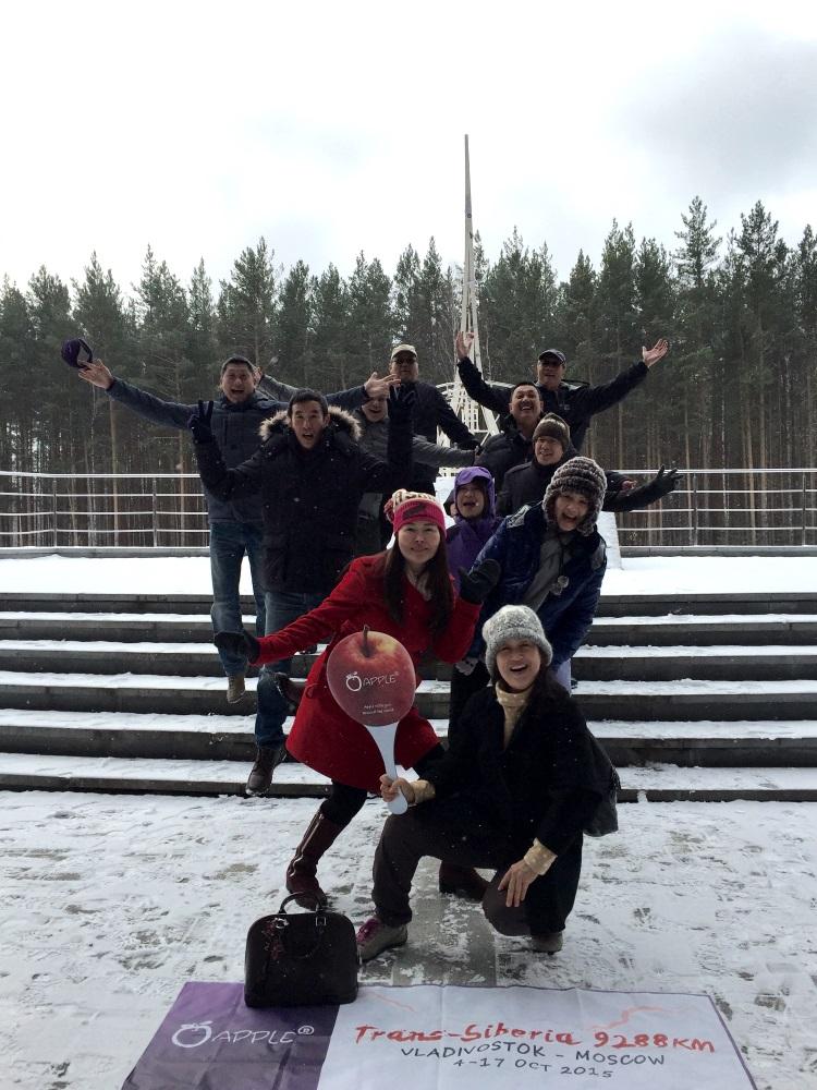 """叶卡捷琳堡""""亚洲与欧洲""""纪念碑;见证我们9288公里的甜酸苦辣"""