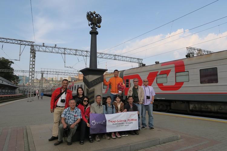 泛西伯利亚铁路第9288公里站;我们从亚洲这边,返回欧洲的莫斯科。