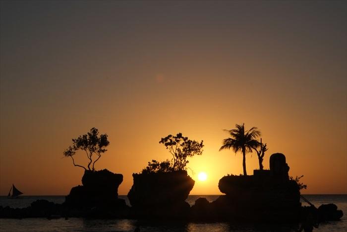 这是长滩岛上不能错过的风景线,随便拍都像是明信片。