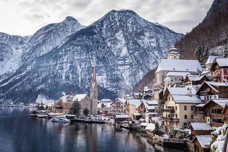 Hallstatt, Austria in Snow