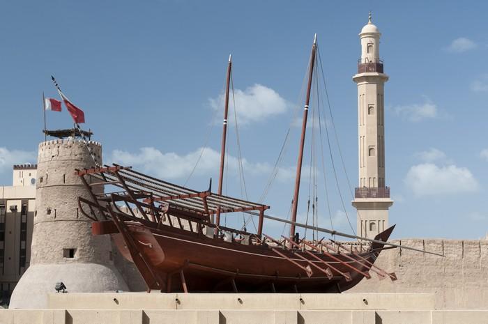杜拜博物馆展示了多种历史文物。