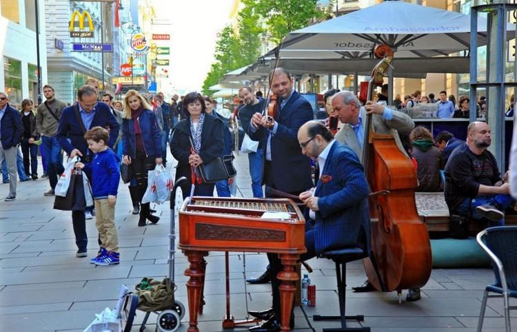 音乐气氛浓厚的维也纳