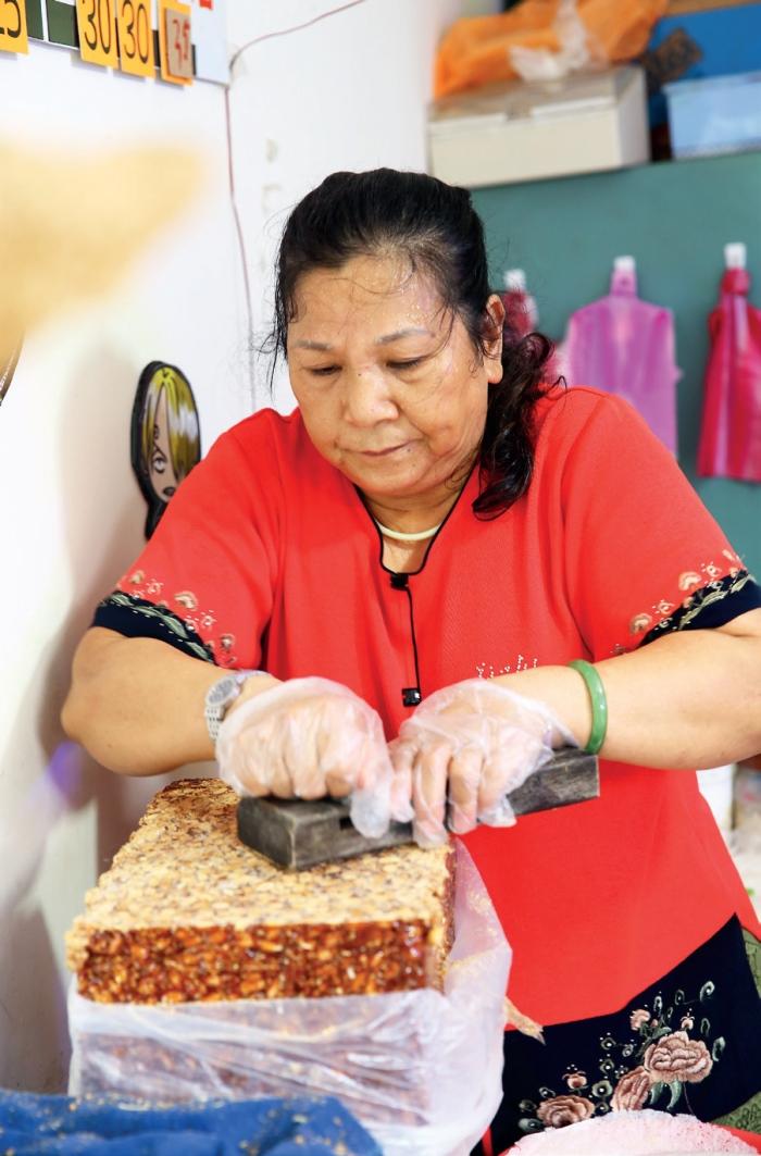 枕头山休闲农业区 宜兰有名的花生卷冰淇淋,浓郁花生香中混合着制作者的用心。