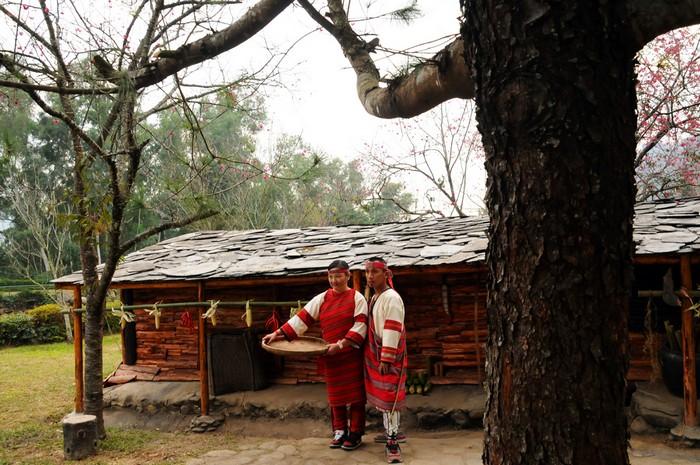 部落屋的泰雅族和一比一的原住民建筑。