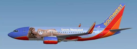 西南航空不甘落后 美女飞机耶!