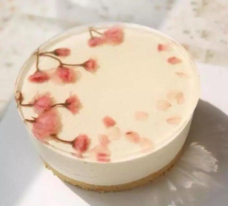 梦幻的樱花蛋糕,春天的味道!